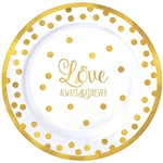 Love Always and Forever Premium 7.5 Inch Plates