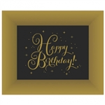 Gold Happy Birthday Large Trays - 2 Pack