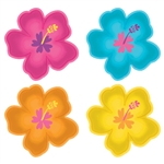Tropical Jungle Hibiscus Shaped Plates, 10 1/2""