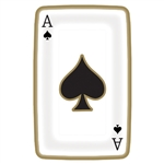 Casino Playing Card Shaped Plates, 9""