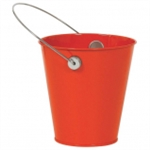 ORANGE PEEL METAL BUCKET
