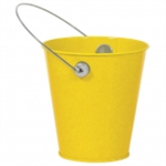 SUNSHINE YELLOW METAL BUCKET