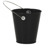 BLACK METAL BUCKET