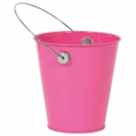 BRIGHT PINK METAL BUCKET