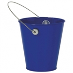 ROYAL BLUE METAL BUCKET