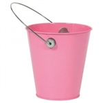 NEW PINK METAL BUCKET