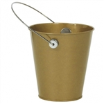 GOLD METAL BUCKET