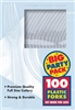 Big Pack Forks 100ct Clear