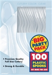Big Pack Spoons 100Ct Clear