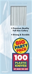 Big Pack Knives 100ct Clear