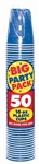 BRIGHT BLUE 12OZ CUP PARTY PACK 50CT