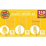 Yellow Sunshine Plastic Cutlery Set - 240 ct.