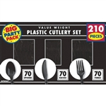 210 COUNT CUTLERY - BLACK