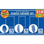 210 COUNT CUTLERY - BLUE