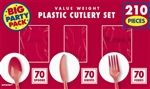 210 Count Cutlery - Red