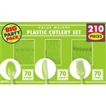 210 Count Cutlery - Kiwi Green
