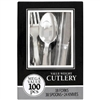 Silver Assorted Cutlery 100 Count Box
