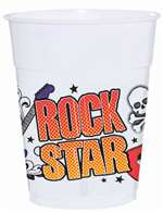 ROCK STAR PLASTIC CUPS BIG PACK