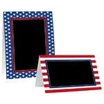 Patriotic Chalkboard Tent Cards