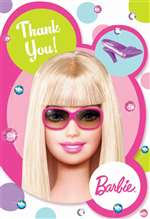 BARBIE DOLL'D UP THANK YOU CARDS