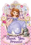 Sofia the First Princess Thank You Cards
