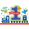 All Aboard Boy Die-Cut Postcard Thank You Cards