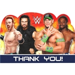 WWE Party Thank You Cards