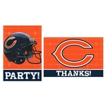 Chicago Bears Invitations / Thank Yous Combo Pack