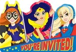 DC Super Hero Girls Invitations