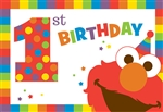 Elmo Turns One Invitations