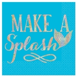 Mermaid Wishes Make A Splash Beverage Napkins
