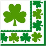 Lucky Shamrocks Beverage Napkins