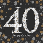 Sparkling Celebration 40th Beverage Napkin