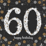 Sparkling Celebration 60th Beverage Napkins