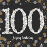 SPARKLING CELEBRATION 100 BEVERAGE NAPKINS