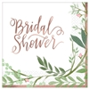 Love and Leaves Bridal Shower Beverage Napkins