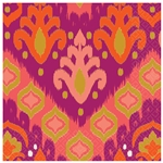 Orange Ikat Beverage Napkins