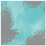 Robin's-Egg Blue Brushstroke Beverage Napkins