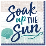 SEA, SAND, SUN BEVERAGE NAPKINS
