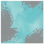 Robin's-Egg Blue Brushstroke Luncheon Napkins