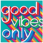 Good Vibes Luncheon Napkins