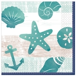 SEA, SAND, SUN LUNCHEON NAPKINS