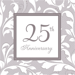 25th Anniversary Luncheon Napkins