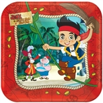 Jake and the Never Land Pirates 7 inch Square Plates
