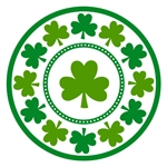 Lucky Shamrocks 7in Round Plates