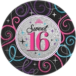 Sweet Sixteen Celebration Prismatic Plates - 7in