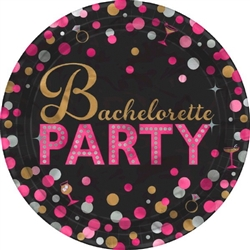 Bachelorette Night 7in Plates