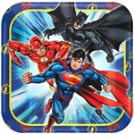 Justice League 7in Square Dessert Plates