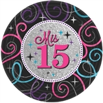Mis Quince Prismatic Plates (7 in)