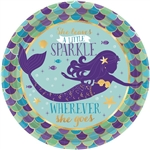 Mermaid Wishes 7 inch Dessert Plates